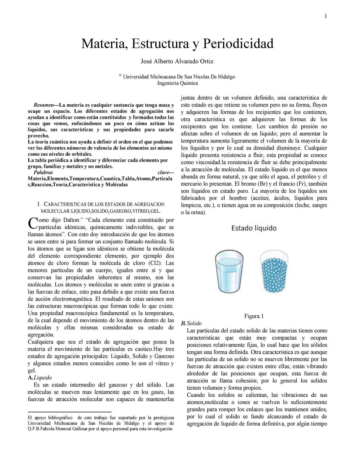 Materia Y Estructura Nota 8 9 Química Inorgánica Studocu