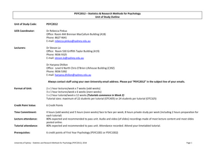 PSYC2012 UOS outline 2018 26 02 18 - PSYC2012: Statistics