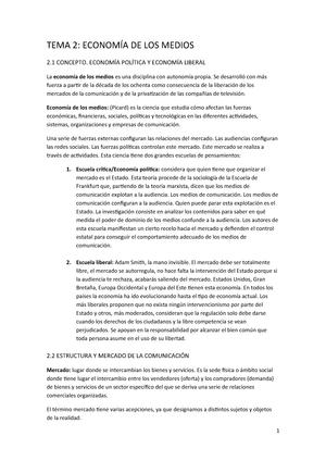 Estructura Y Mercados De La Comunicación Unav Studocu