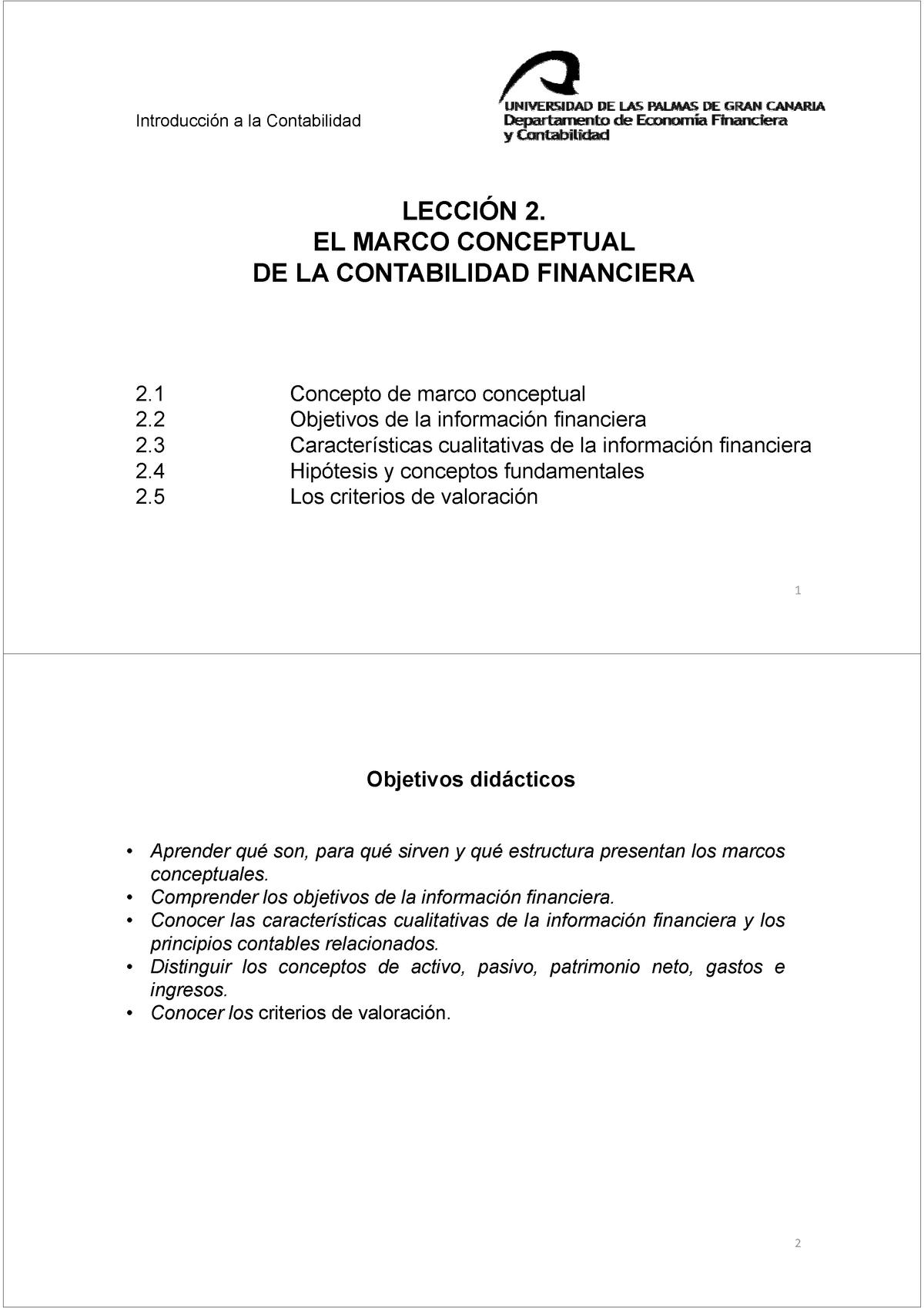 Tema 2 De Contabilidad 40506 Ulpgc Studocu