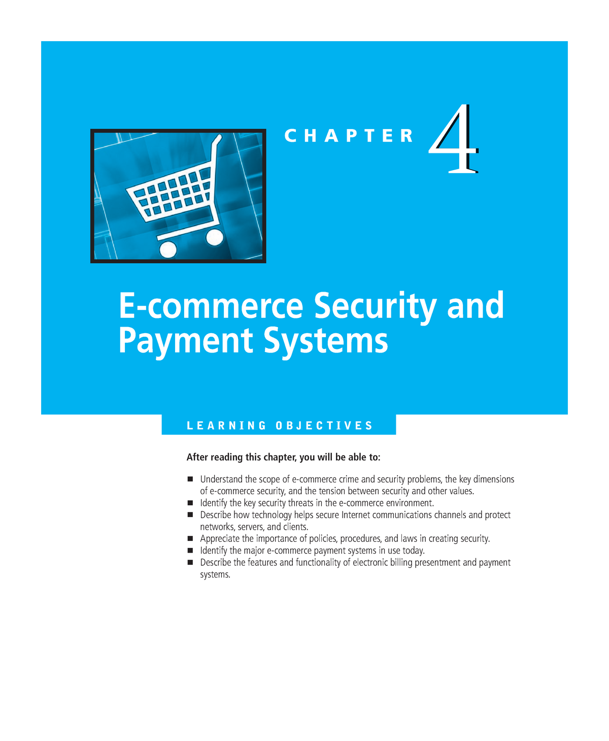 Chapter 04 e Commerce Security and Payment Systems - 031254 : e