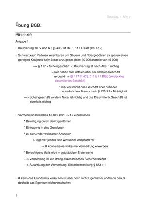 übung Bgb Fall 5 Titel 430125 übung Im Bürgerlichen Recht Für