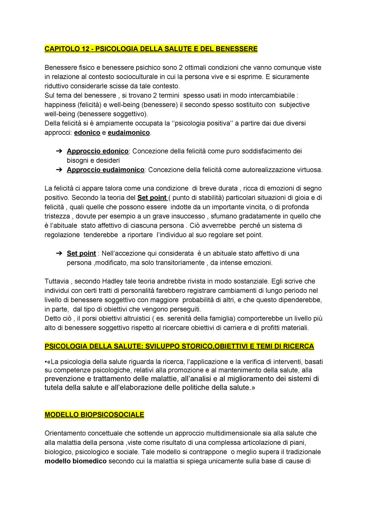 Capitolo 12 Psicologia Generale Unimc Studocu
