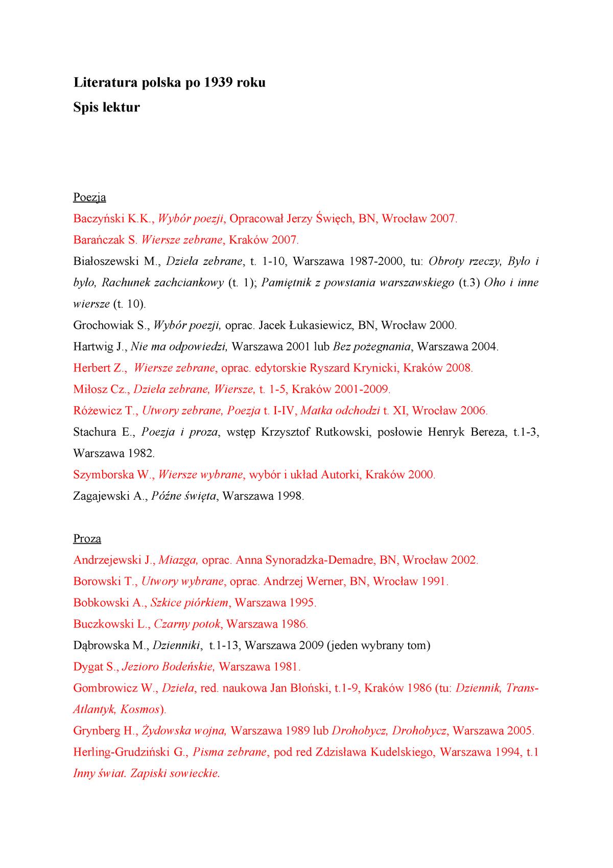 Lit Po 39 Filologia Polska Filologia Polska Studocu