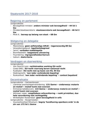 onsplitsbare wilsverklaring Uitspraken per onderwerp   RR201: Staatsrecht   StudeerSnel.nl