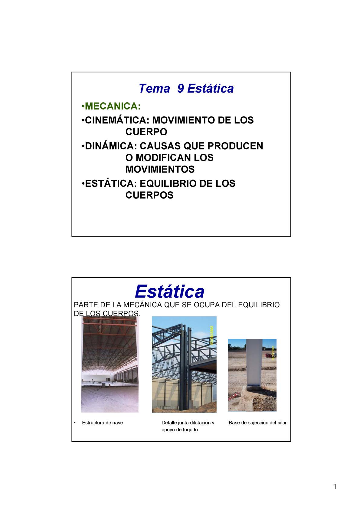 Diapositivas Tema 9 Estática Química I 979 Umh Studocu