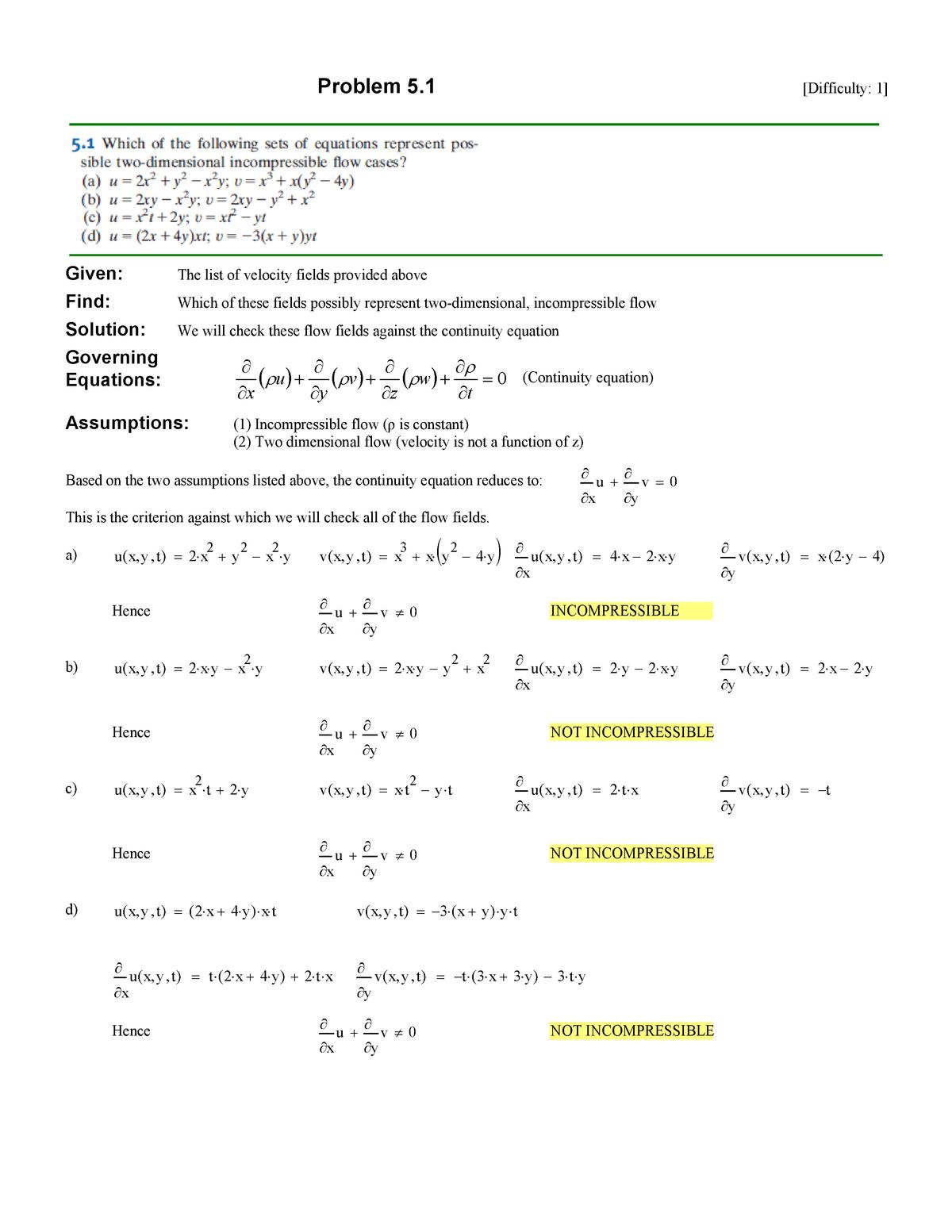 Solution do Cap  05 FOX - CTJ017: Mecânica dos fluidos - StuDocu
