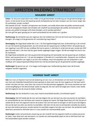 hoornse taart arrest Muilkorf en Hoornse Taart   RR104: Inleiding strafrecht   StudeerSnel hoornse taart arrest