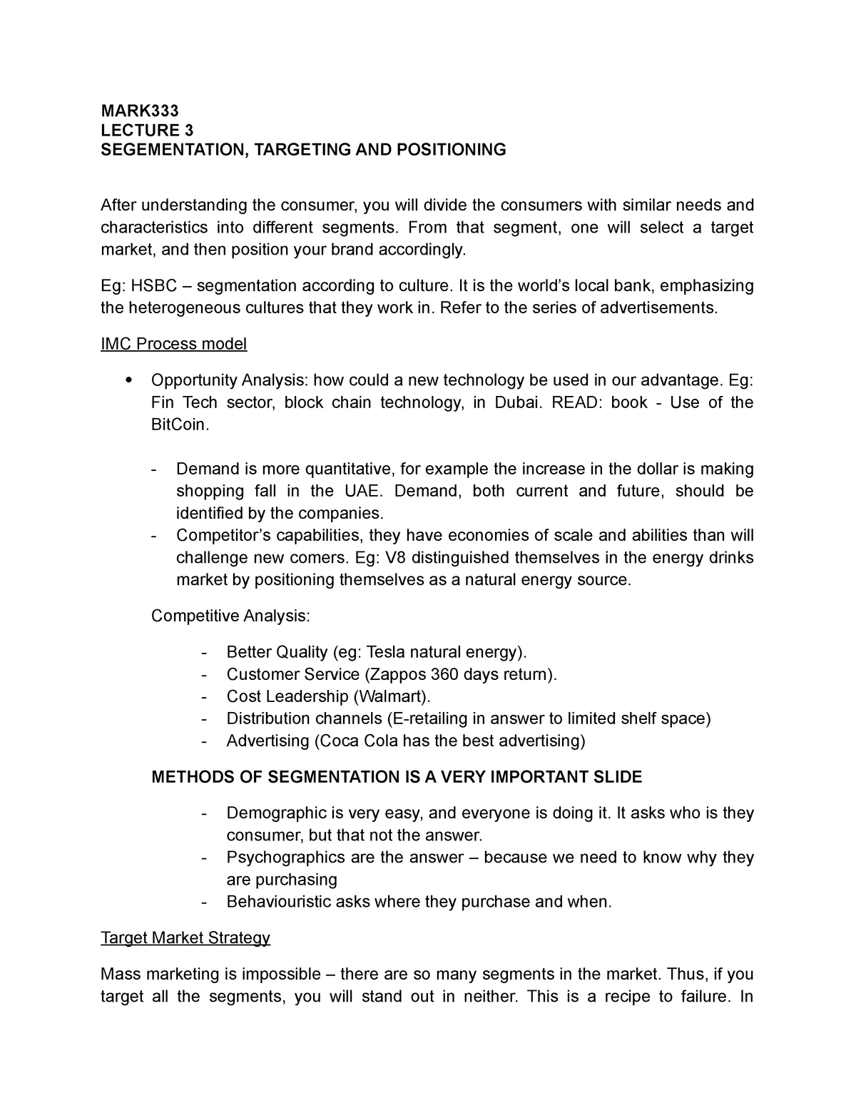 Lecture notes - Segmentation and Positioning - Integrated
