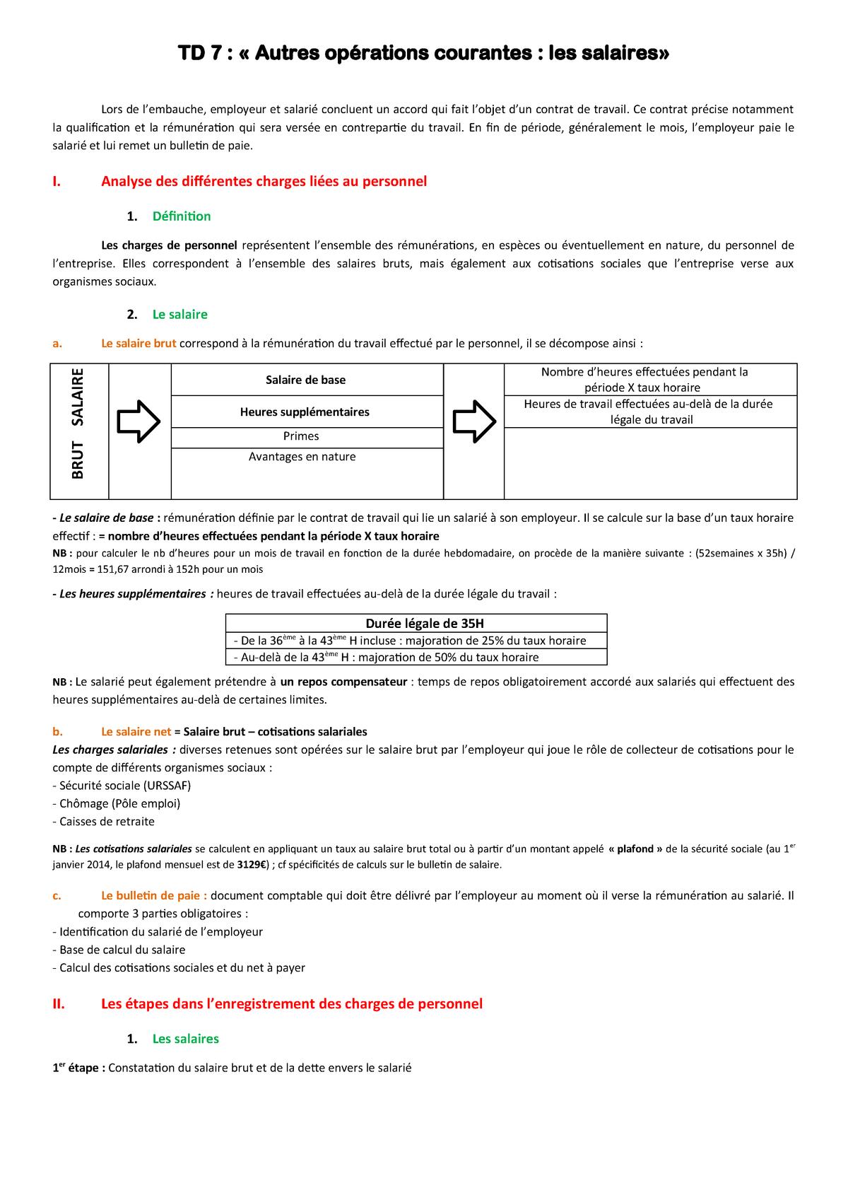 Td7 Résumé Comptabilité Lorraine Studocu