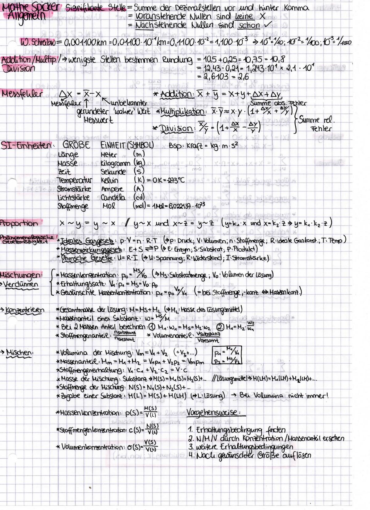 Mathe 001 - Themen: gesamte Analysis, Deskriptive