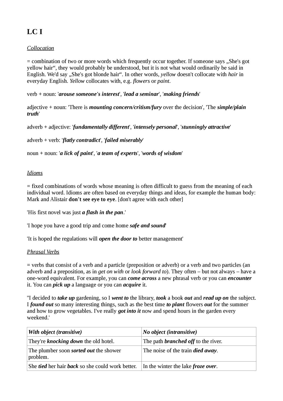 LC I - Summary Language Course I - 6204 - StuDocu