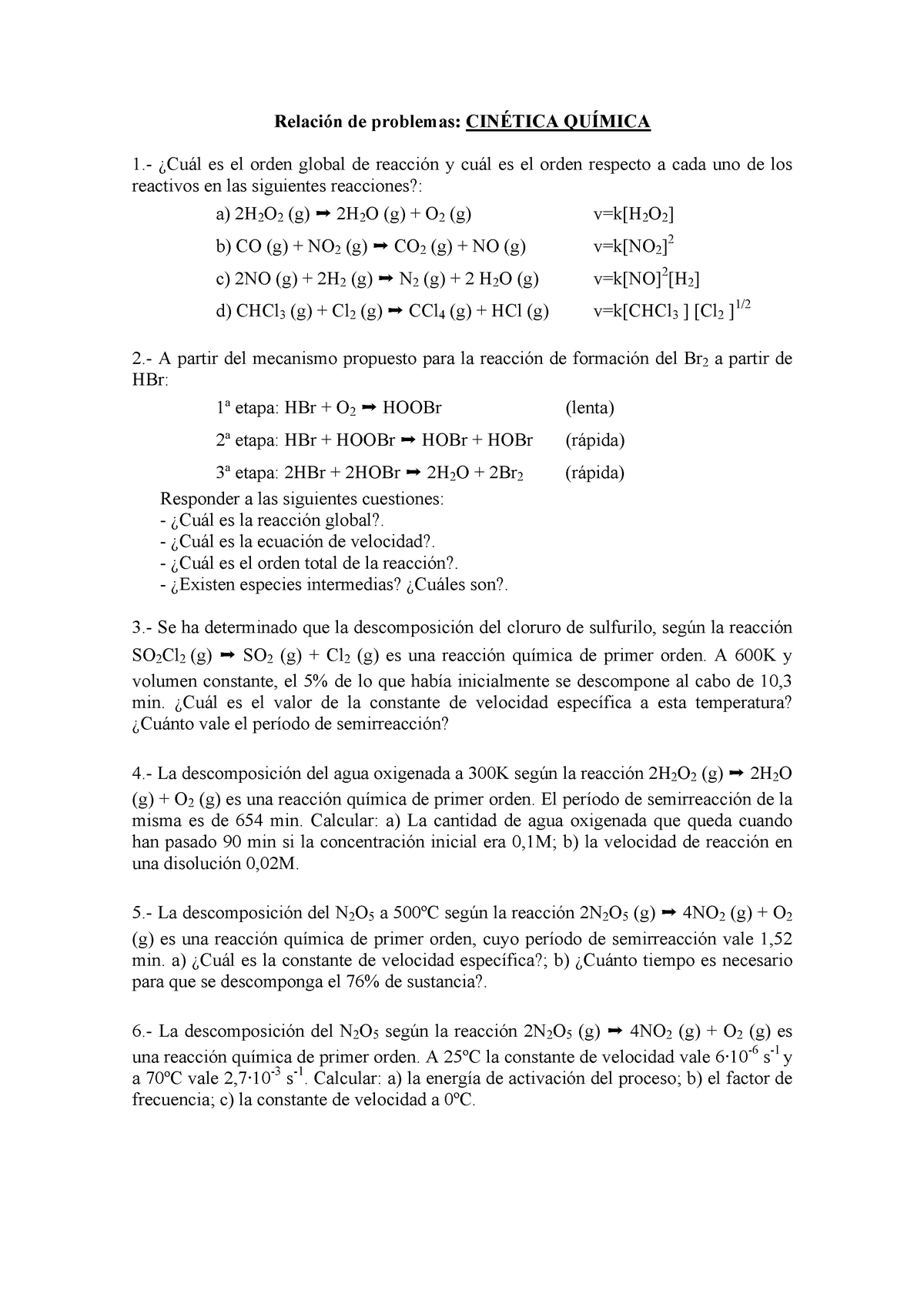 Problemas 9 Chemistry 10211003 Ujaen Studocu