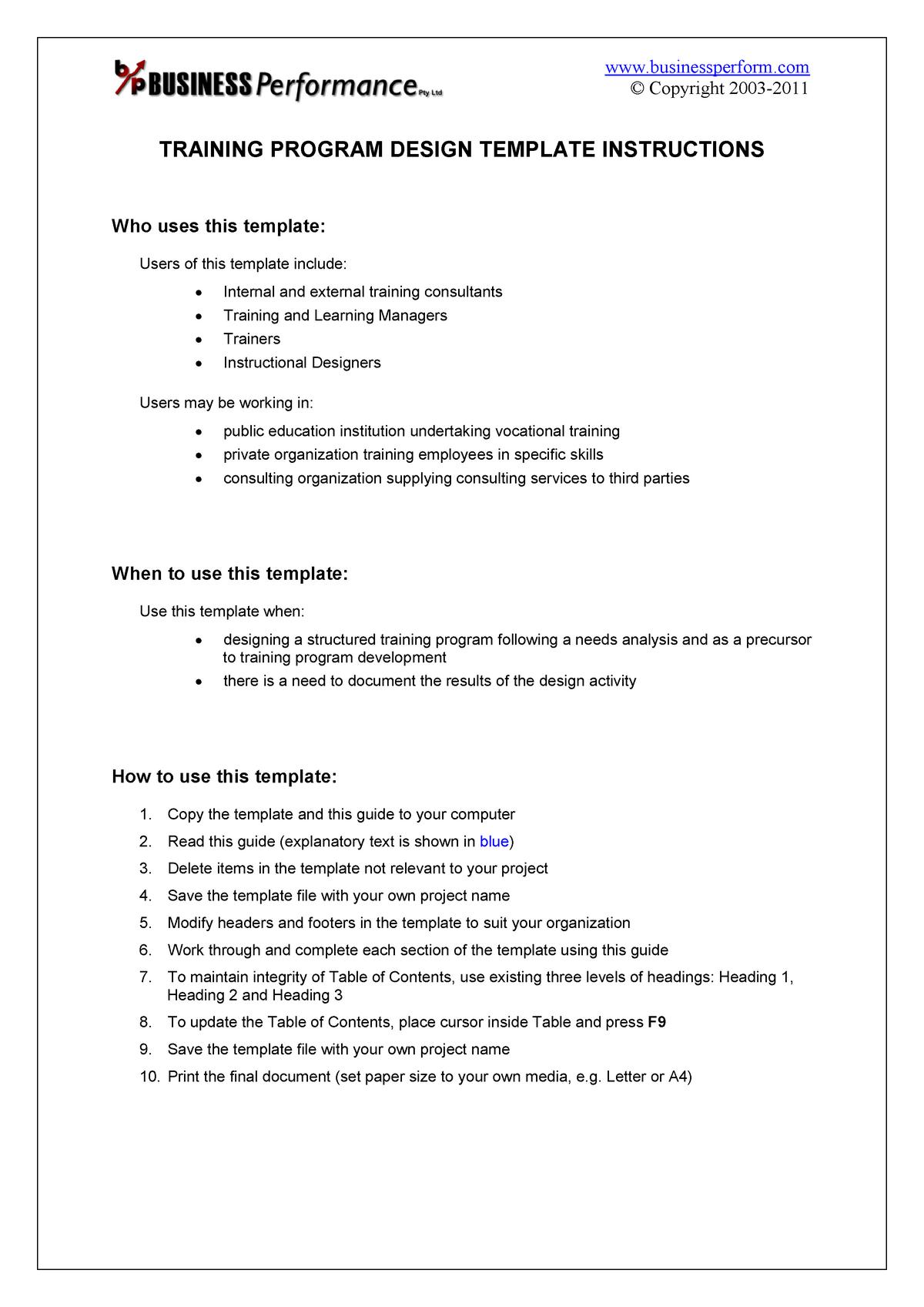 Training Program Design Guide Sample Bc 903 Studocu
