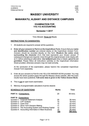 Exam 2017 115112 Accounting For Business Studocu