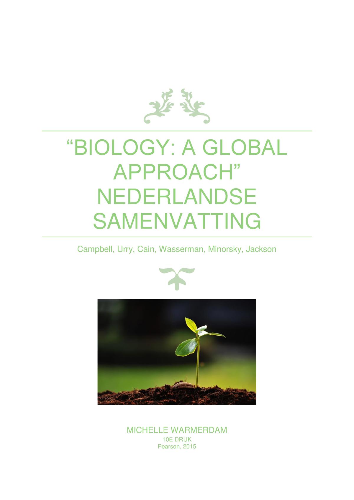 Campbell Biology samenvatting in Nederlands - Ecologie V01RG - StuDocu