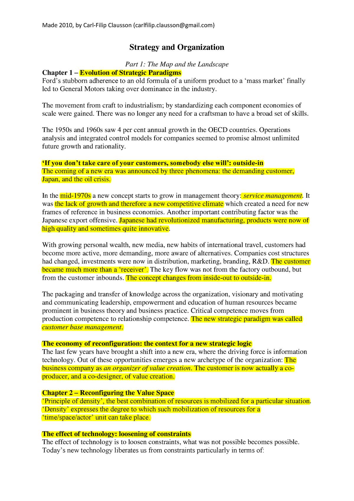 Reframing Business Summary - GM0803 - StuDocu