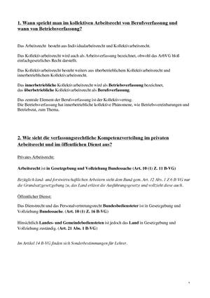 übungen Fragen 1 Bis 374 209101 Arbeitsrecht Studocu