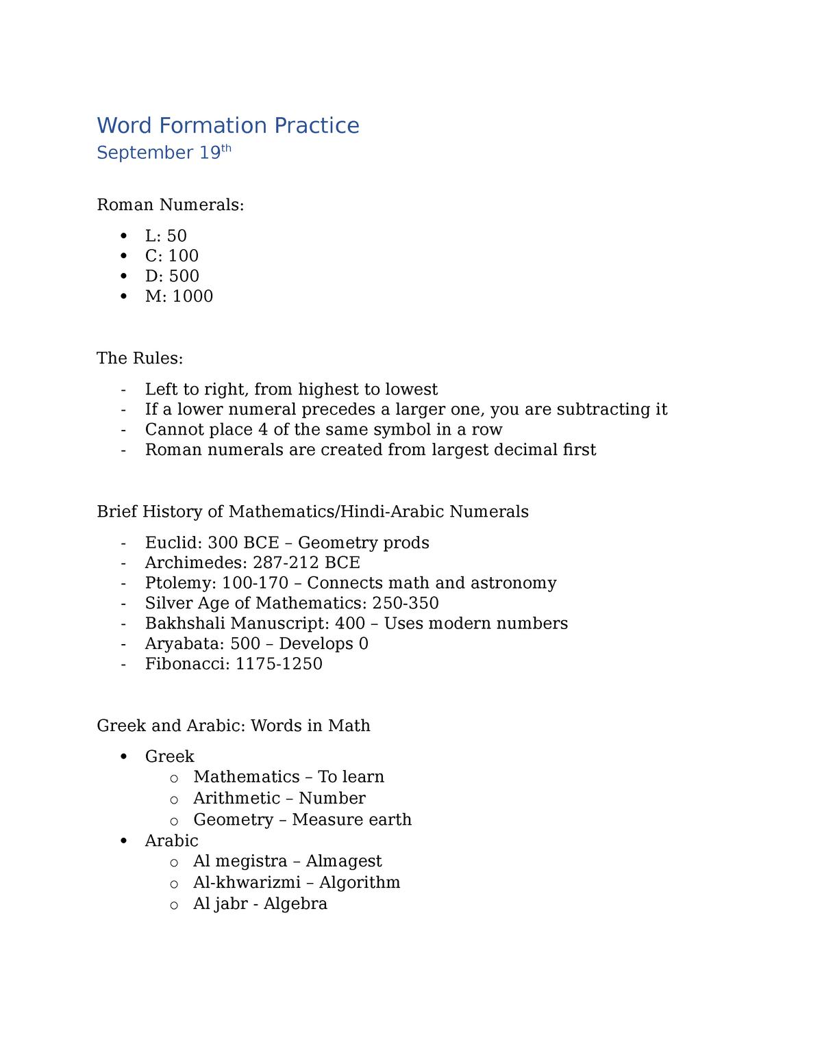 Classics 225 Lecture 8 - L08 225D: Latin & Greek In Current English