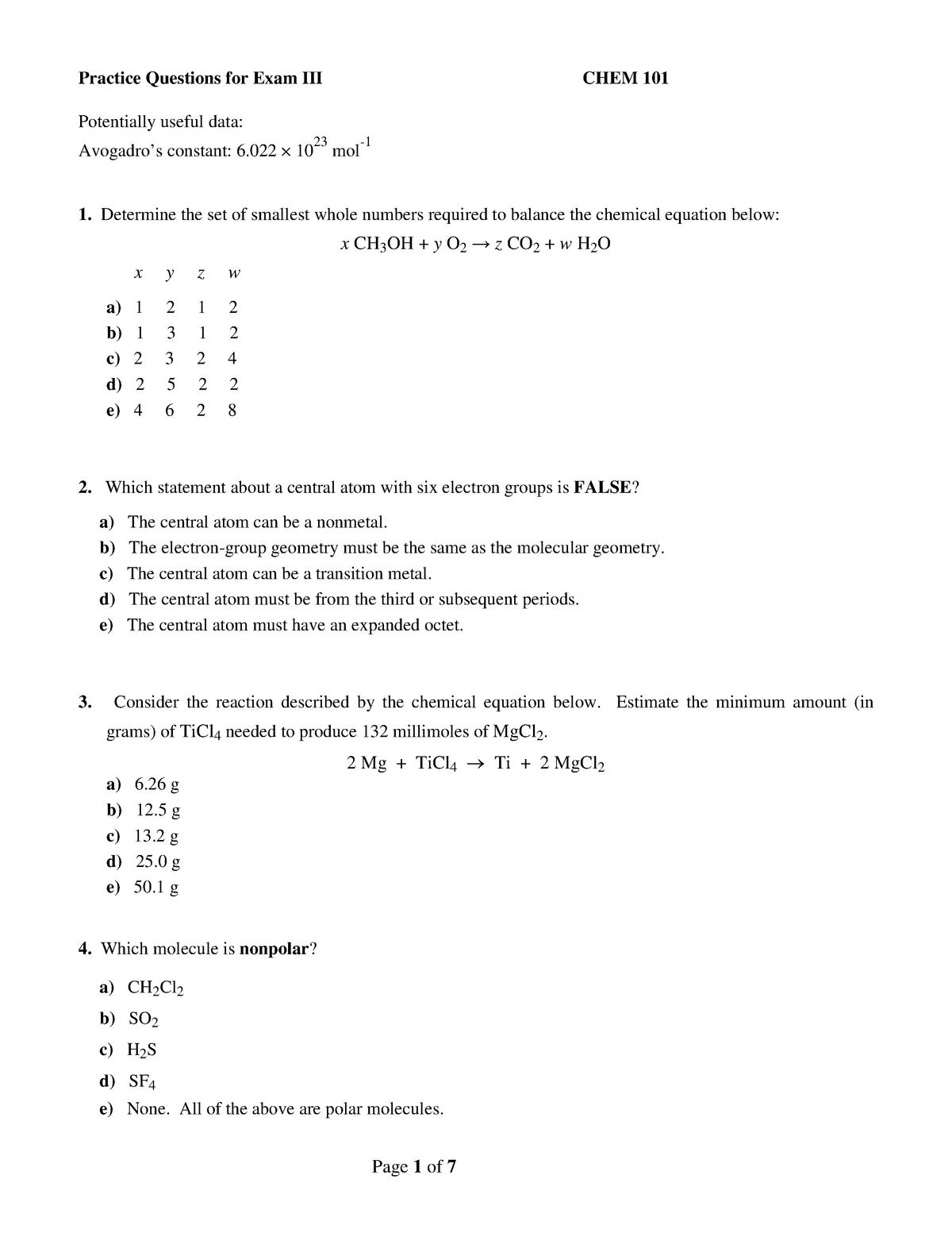 Exam Iii Autumn 2017 Questions And Answers Studocu