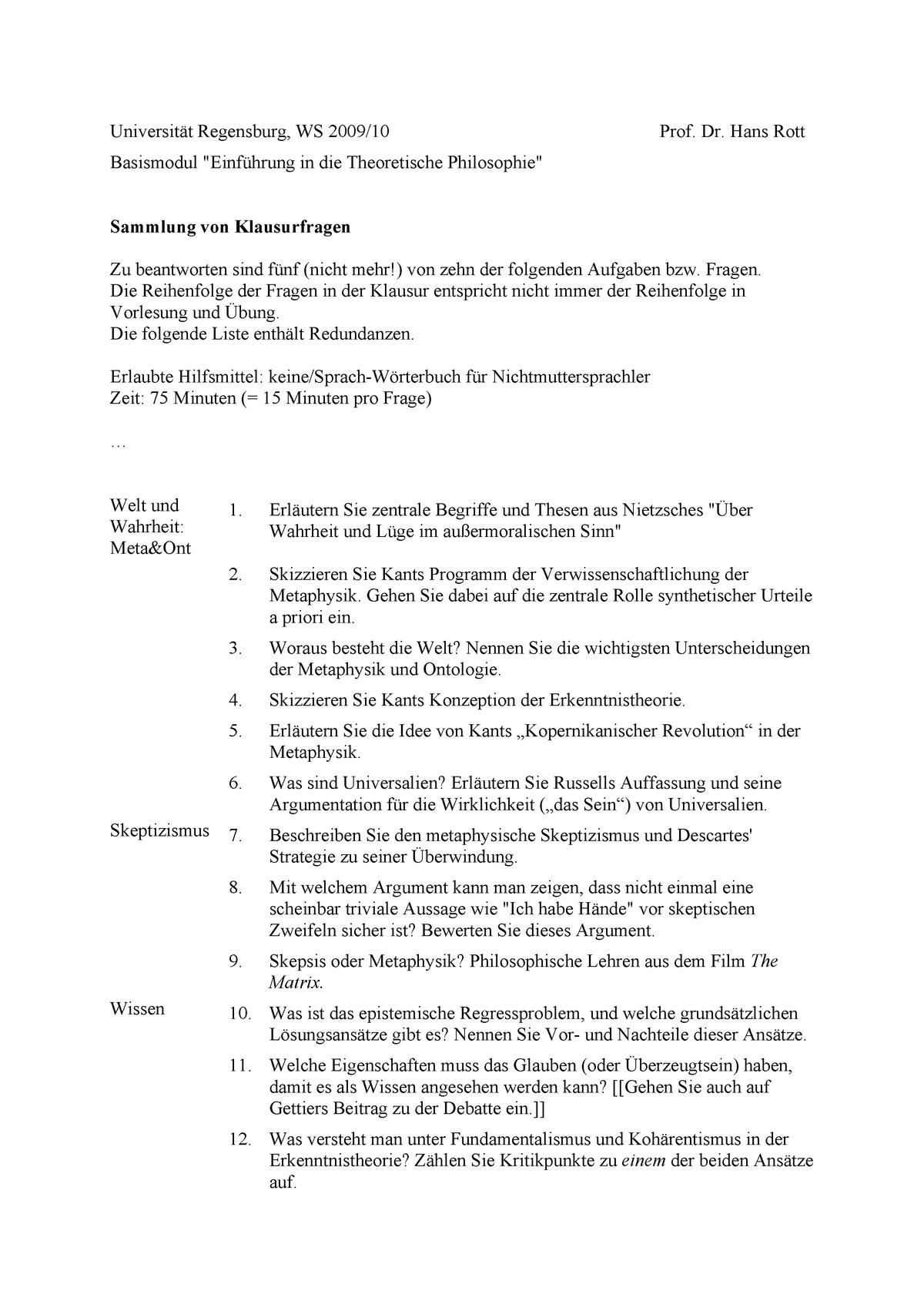 Klausur Wintersemester 2014 2015 Fragen Studocu