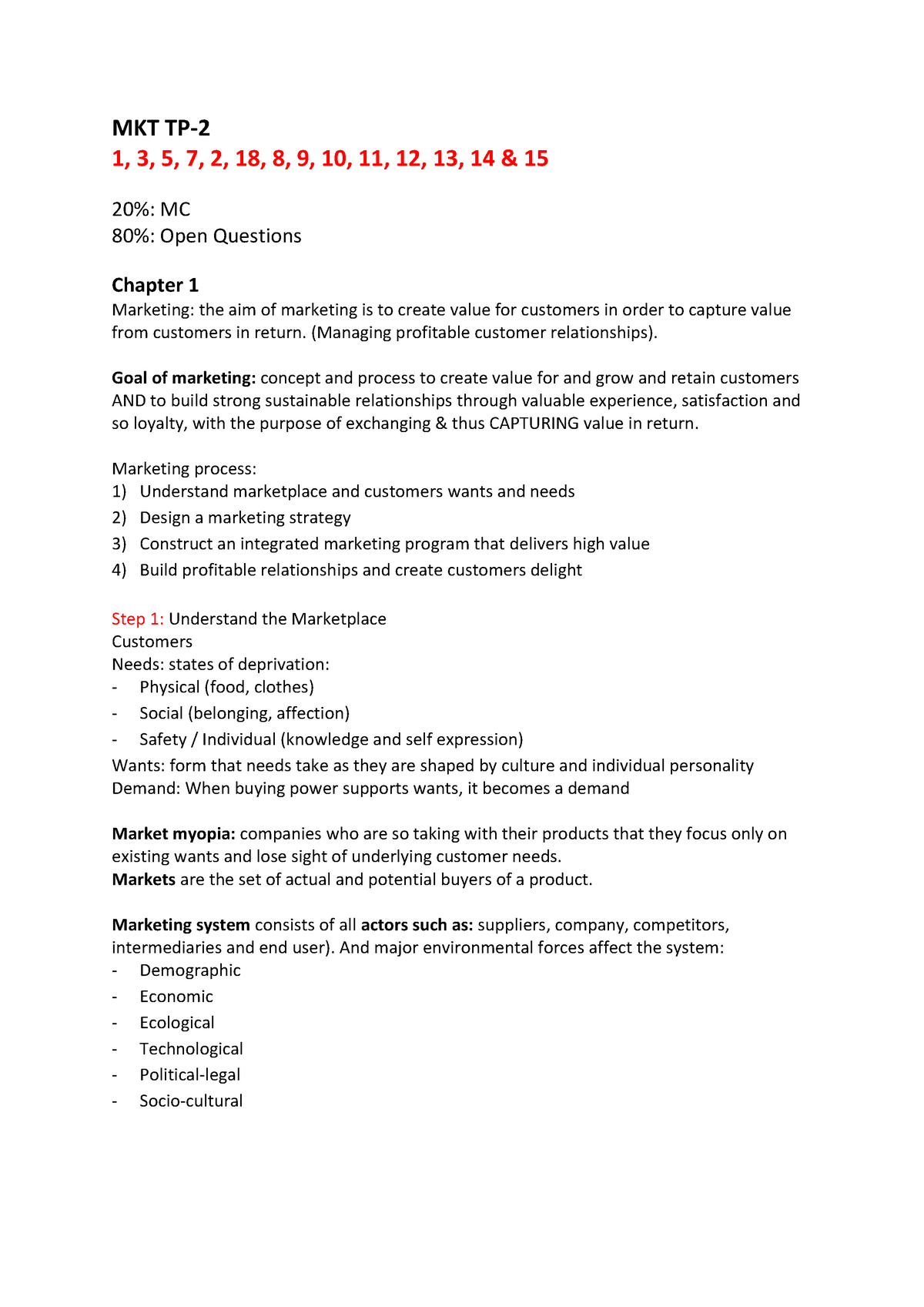 Summary, marketing, Test Period 1 - HHS-IBMS-018: Marketing