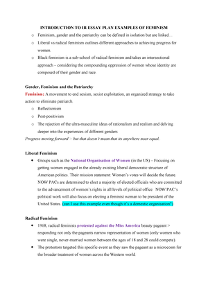 Cause And Effect Essay Papers Introduction To Ir Essay Plan Examples Of Feminism  Govt Introduction  To International Relations  Studocu How To Write A Good English Essay also Persuasive Essay Examples For High School Introduction To Ir Essay Plan Examples Of Feminism  Govt  Synthesis Essay Topics