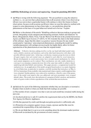 Tentamen 2013 - WM0332IN: Methodology of Science and Engineering