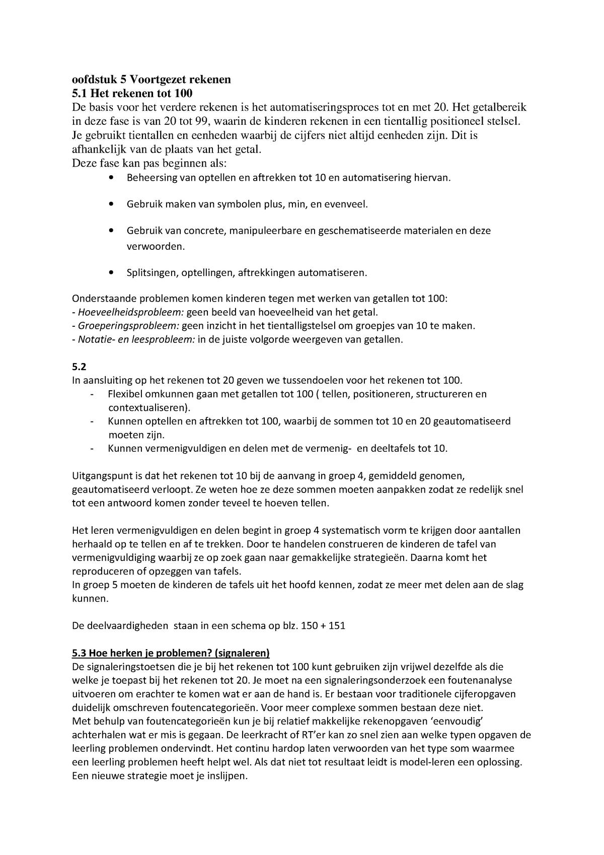 Spiksplinternieuw Hoofdstuk 5 Voortgezet rekenen - 2210NT2SVZ - Inholland - StudeerSnel KG-95