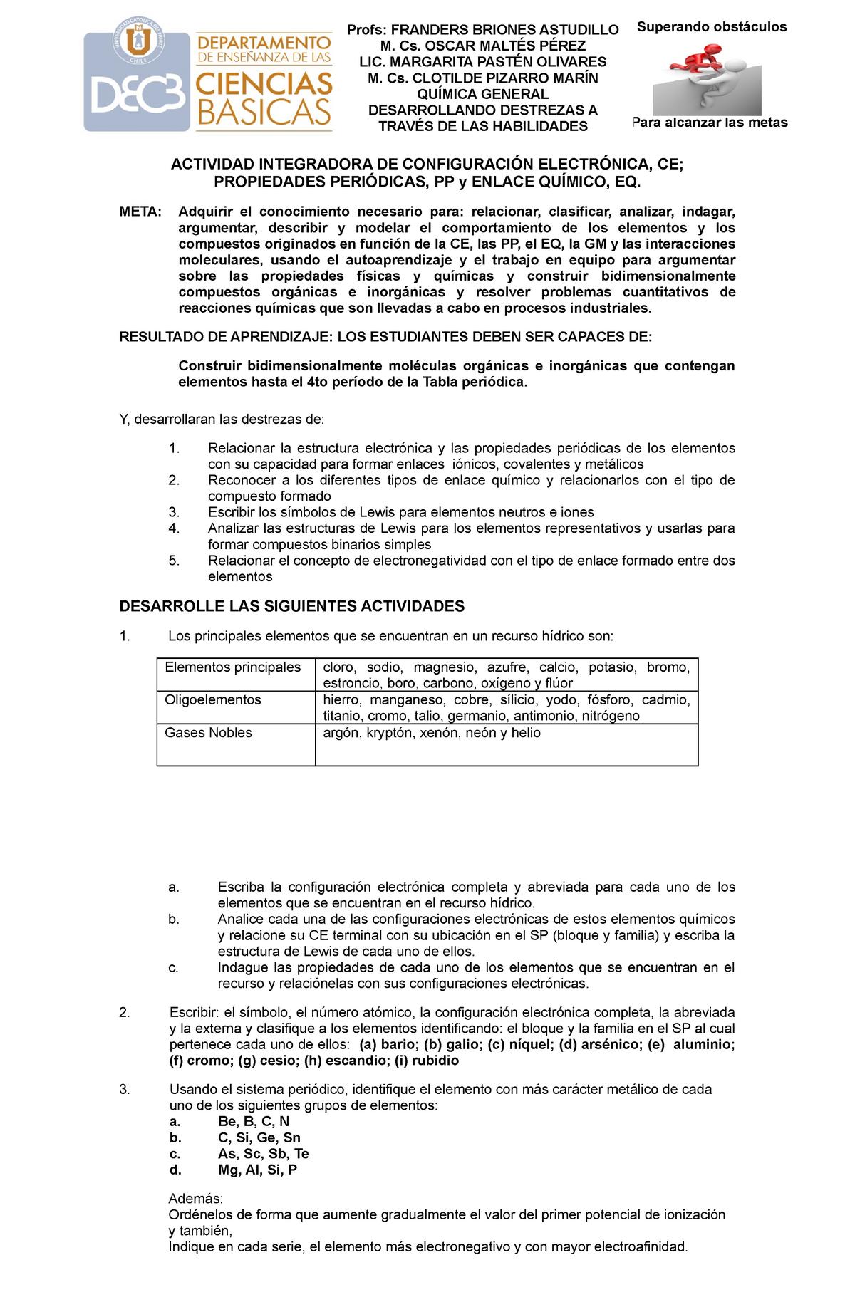 Ejercicios Nomenclatura Química General Ucn Studocu