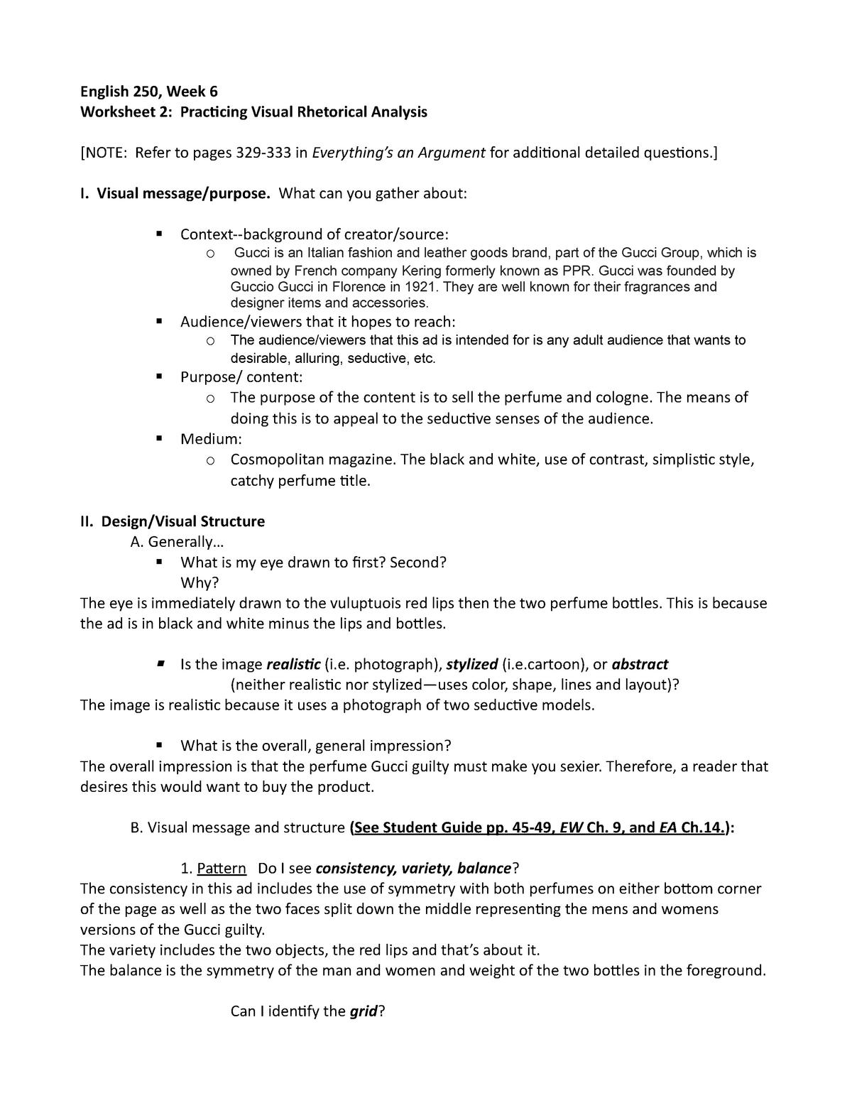 English 250 Visual Rhetorical Analysis Worksheet 2 - ENGL ...