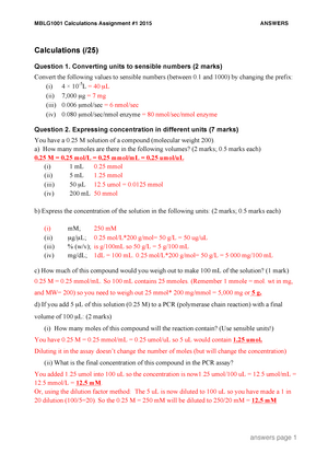 Seminar Assignments Assignment 3 Answers Mblg1001 Studocu