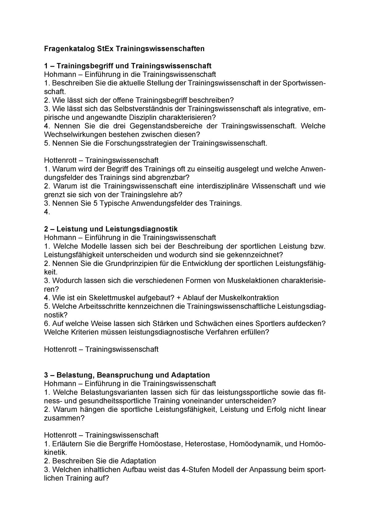 Quali Sport Fragenkatalog Zur Schriftlichen Prüfung