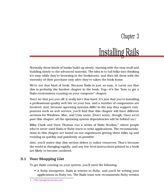 Chapter 03 - Installing Rails - EDA397: Agile development