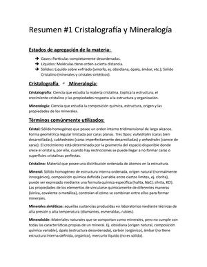 Resumen Cristalografía 1 Prueba Citi077 Uach Studocu