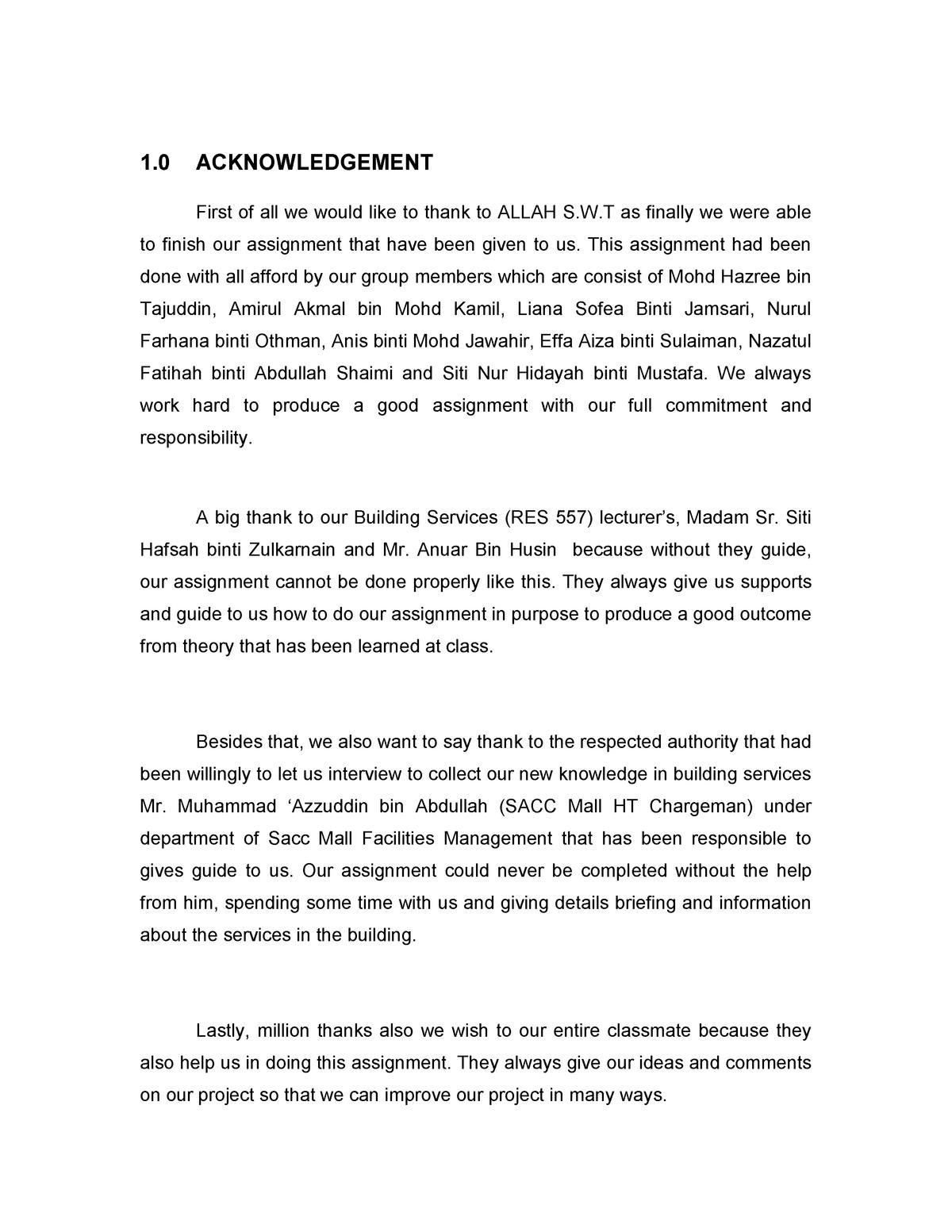 Building Services Assignment Written By Hazree Tajuddin Studocu
