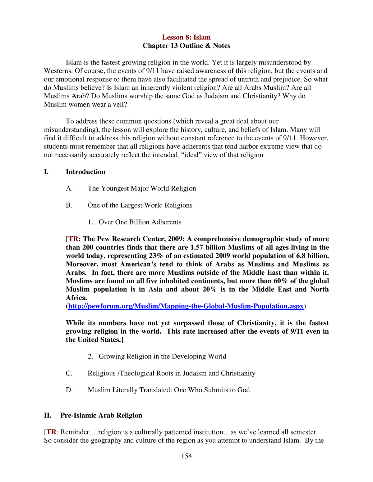 lesson 8 lecture notes - PHIL-1304: Introduction to World Religions