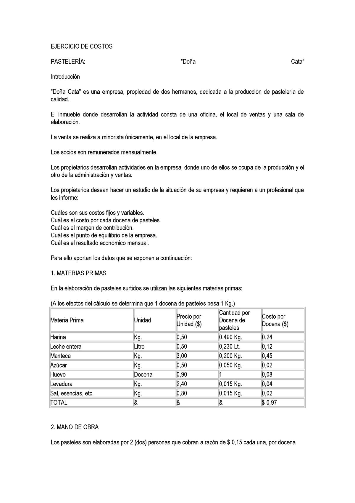 Ejemplo De Costos 2 21853 Upf Studocu