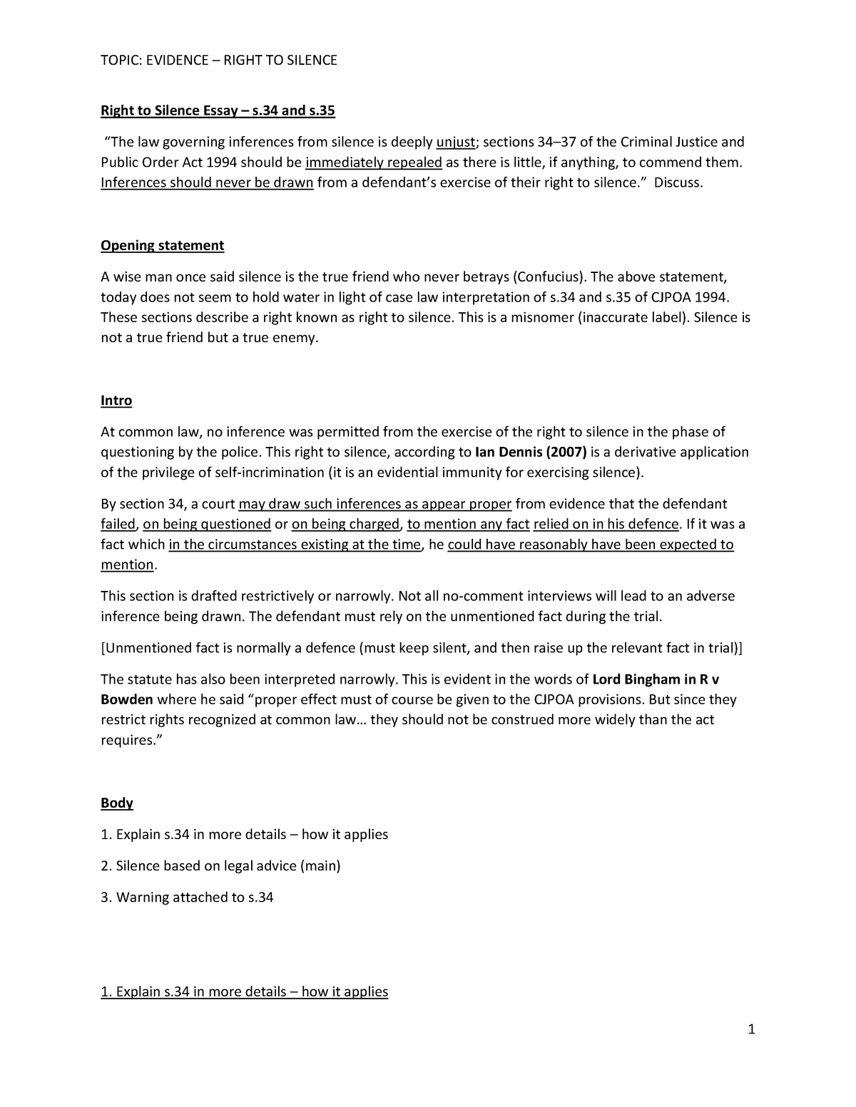 Uchicago silence essay existing thesis