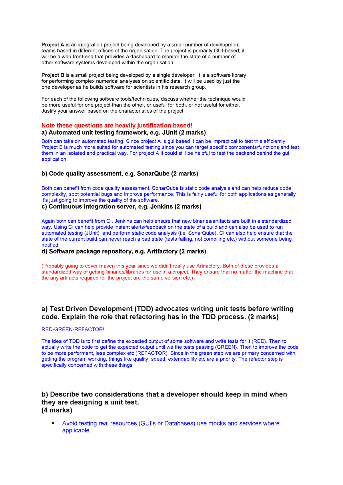 Exam 2015 - DECO2800: Design Computing Studio 2 - Testing
