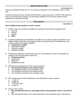 Exam May Spring 2018, questions and answers - PSYC 51A - StuDocu