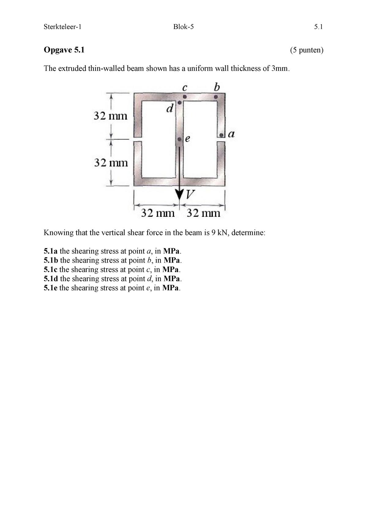 WBMT Block 5 Figures - WB1631-15: Sterkteleer - StuDocu