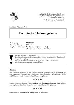 Klausur 2017 3604061 technische strmungslehre studocu ccuart Choice Image