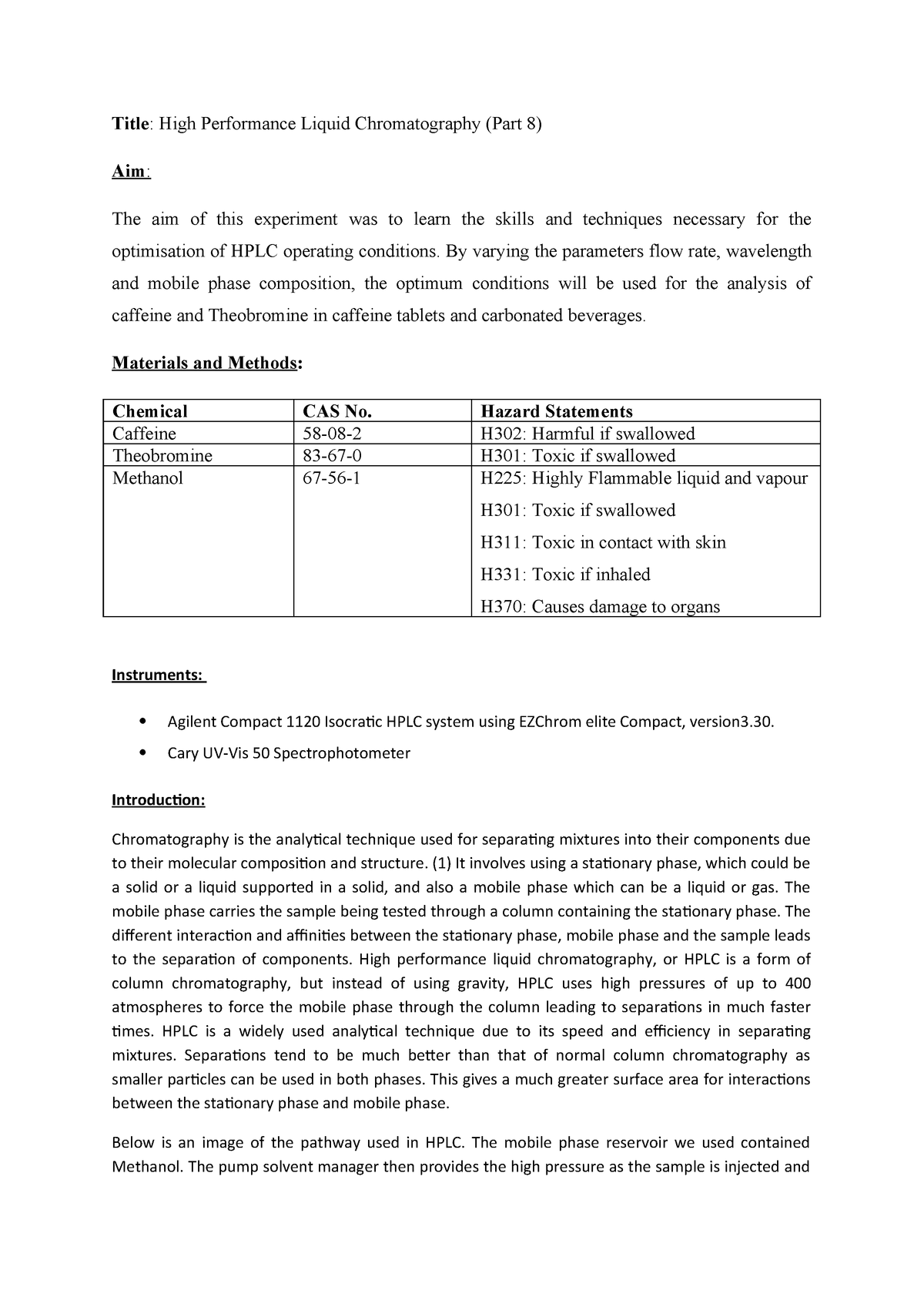 Lab Caffeine 1200 - Lecture notes 1-6 - CS351A: Analysis of