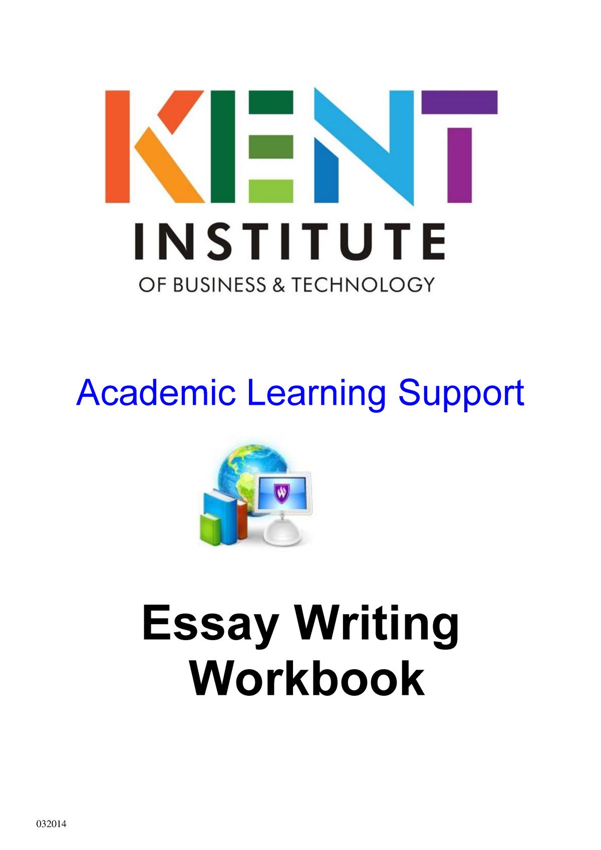 Essay writing workbook t1 2014 - EN593 - UKC - StuDocu