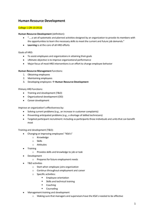 hrd goals and objectives