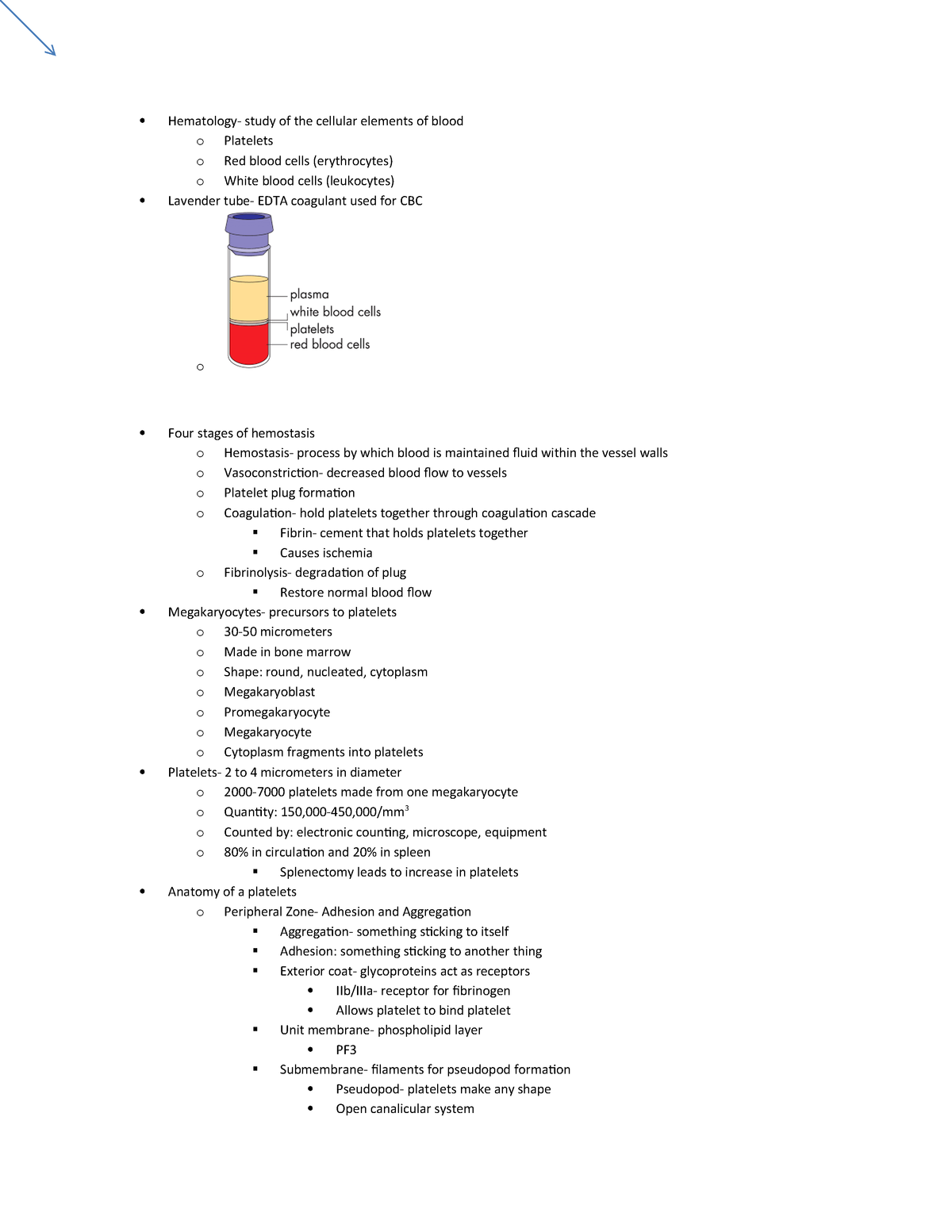 Final exam, questions and answers - medt 404 Hematology I