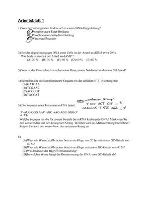 1. Arbeitsblätter - 18303: Biochemie und Molekularbiologie ...