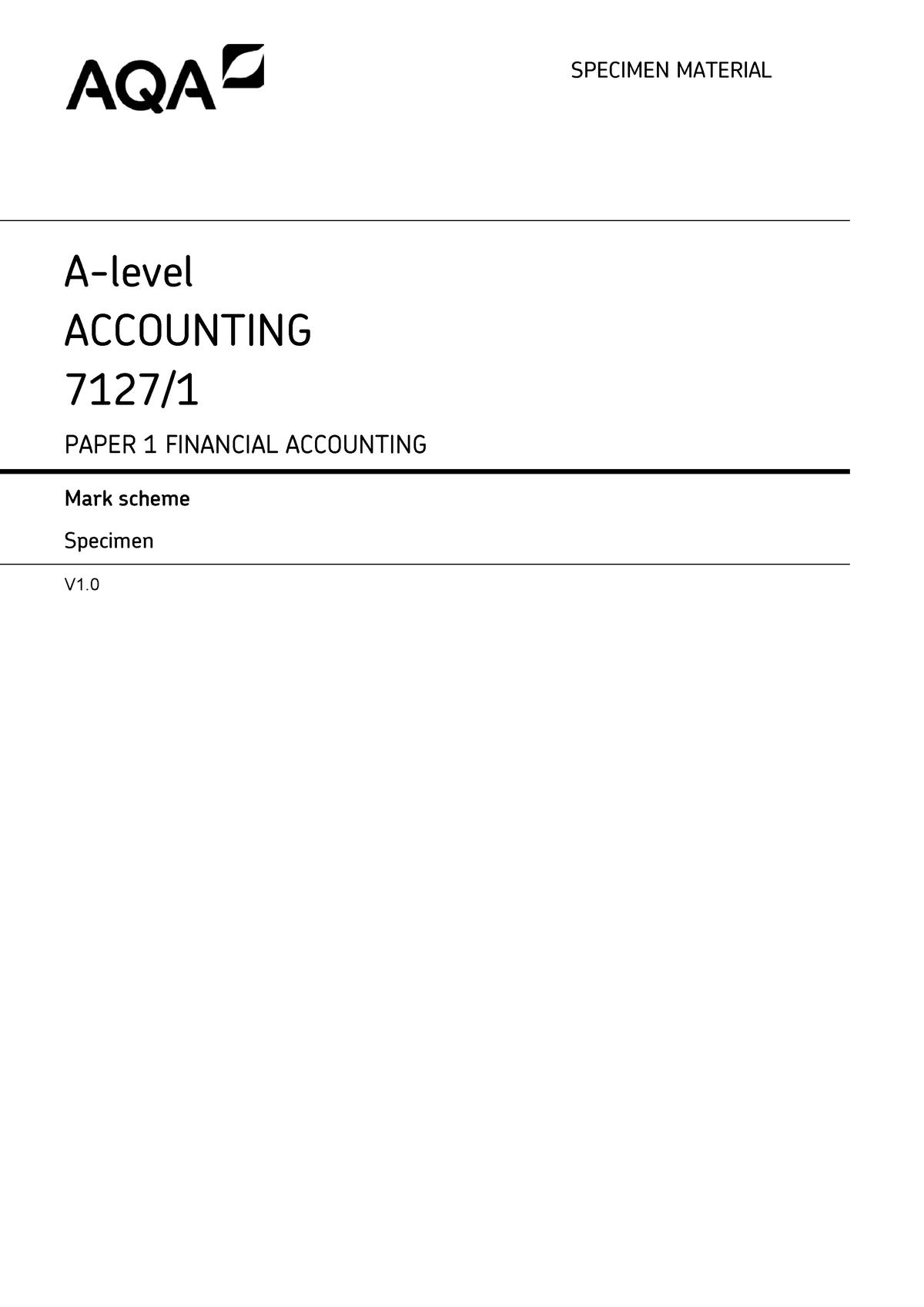 AQA-71271-SMS - aqa - AC 315: Cost Accounting - StuDocu