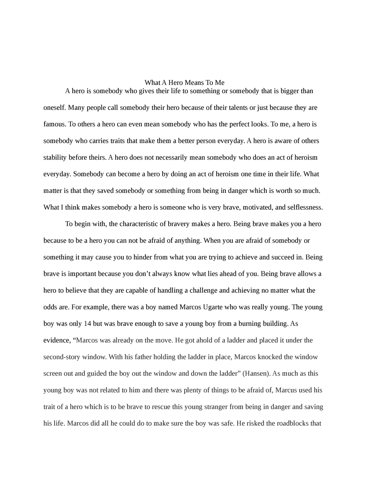 Who can be a hero essay campaign cover letter